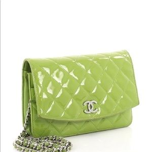 bb21fde1296d CHANEL Bags | Authentic Brilliant Wallet On Chain Quilted Patent ...